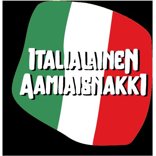Nakki-Hannun raakamakkaratuote Italialainen Aamiaisnakki kuvituskuva
